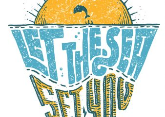 Let the sea, Set you free graphic t-shirt design