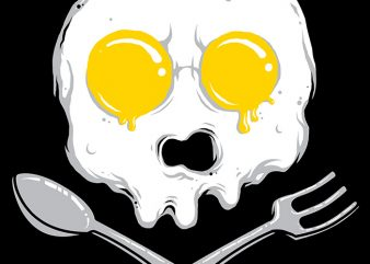 Eggskull graphic t-shirt design