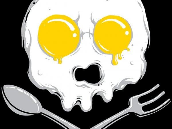 Eggskull graphic t-shirt design