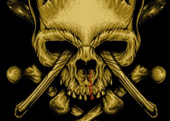 Skull Axe t shirt design to buy