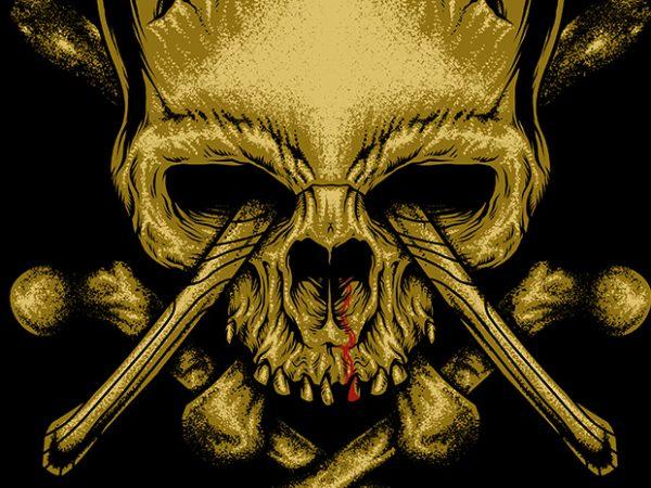 Skull Axe t shirt design to buy