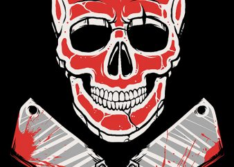 Skull Meat graphic t-shirt design