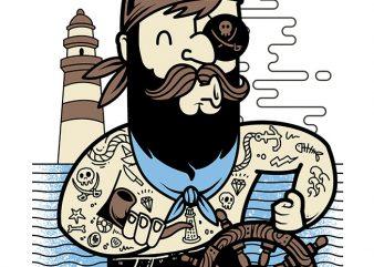 Pirate t shirt illustration