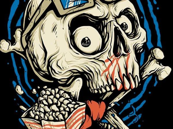 Skull Movie t shirt design for purchase