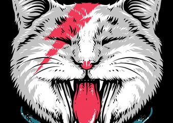 Cat Rock t shirt vector file