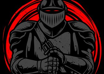 Death Knight t shirt vector illustration