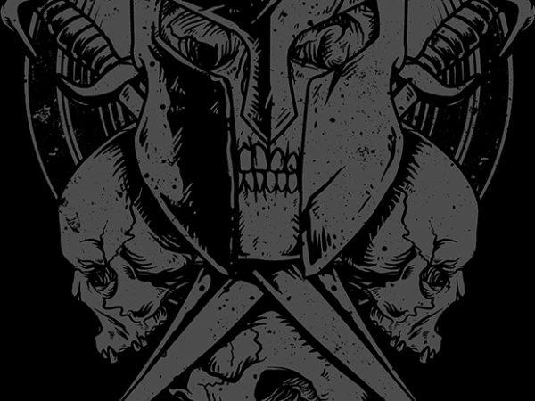 Death Spartan t shirt vector illustration