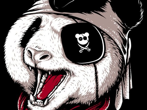 Panda Pirate t shirt design for purchase