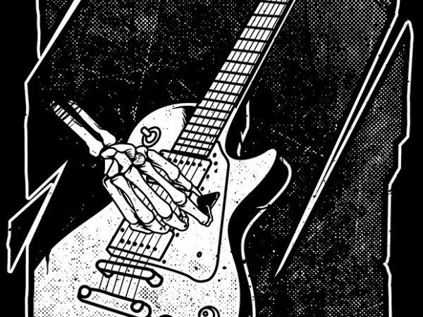 Guitarist print ready t shirt design