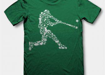 Baseball Player Vector t-shirt design