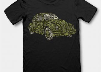 Beetle tshirt design