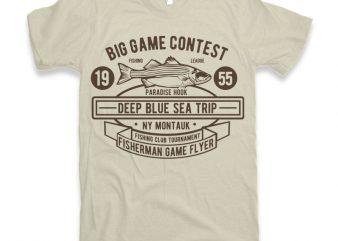 Big Game Contest Fishing t-shirt design