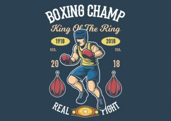 Boxing Champ graphic t-shirt design