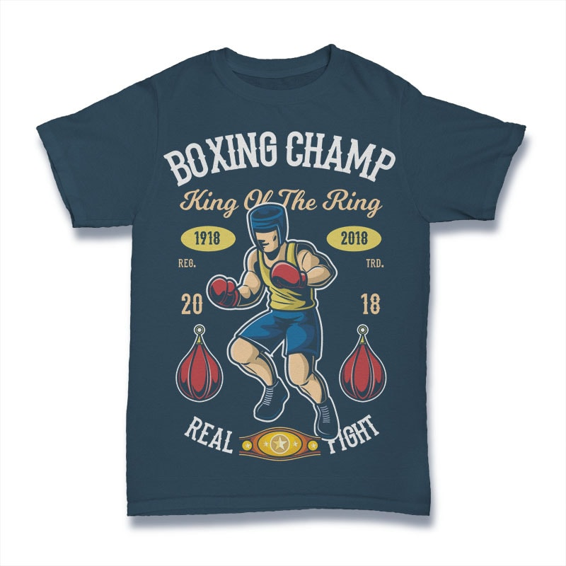 Boxing Champ tshirt design for merch by amazon