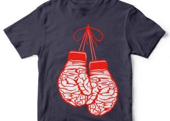 Brain Gloves tshirt design
