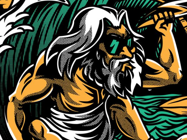 Aloha Zeus buy t shirt design for commercial use