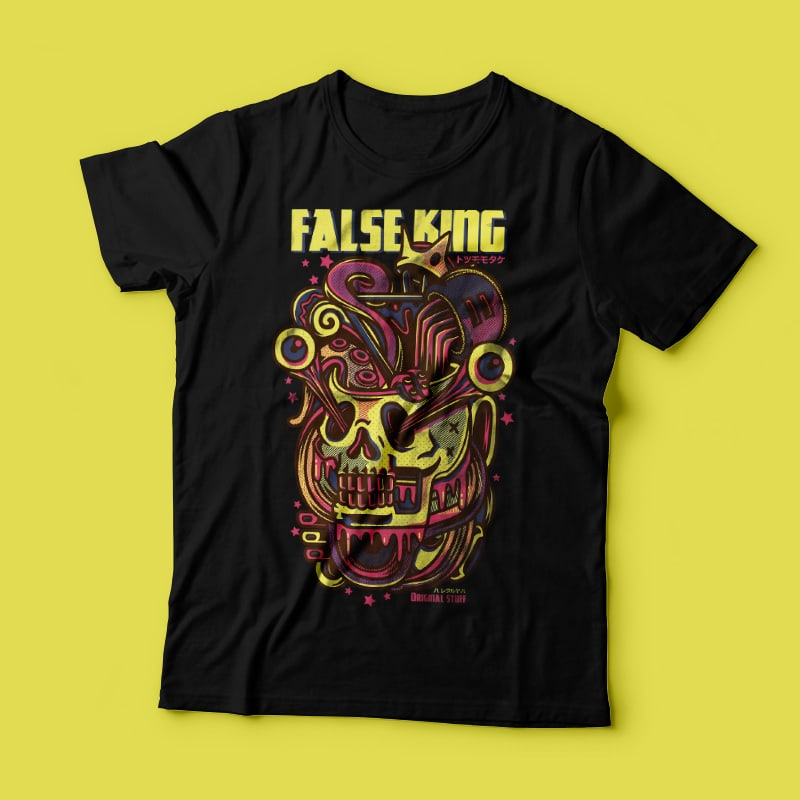 False King tshirt design for sale