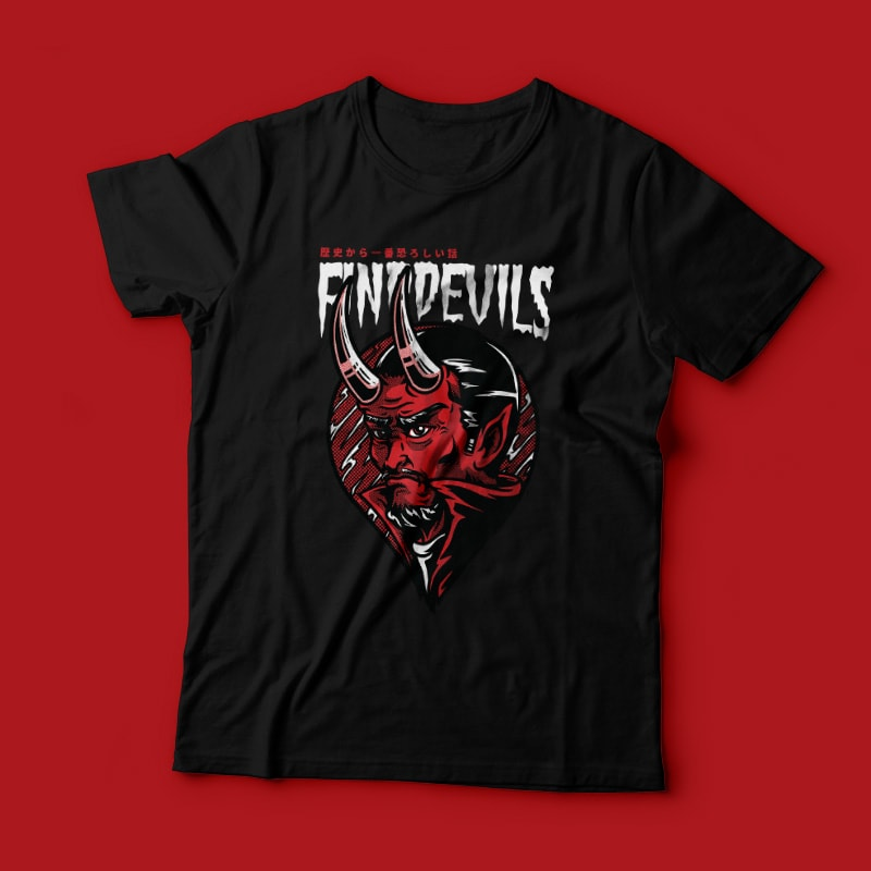 Find Devils t-shirt designs for merch by amazon