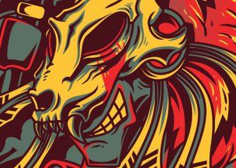 Hunter vector t-shirt design template