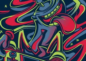 Spray Master vector shirt design