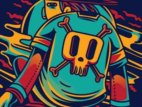 Surfing vector t-shirt design template