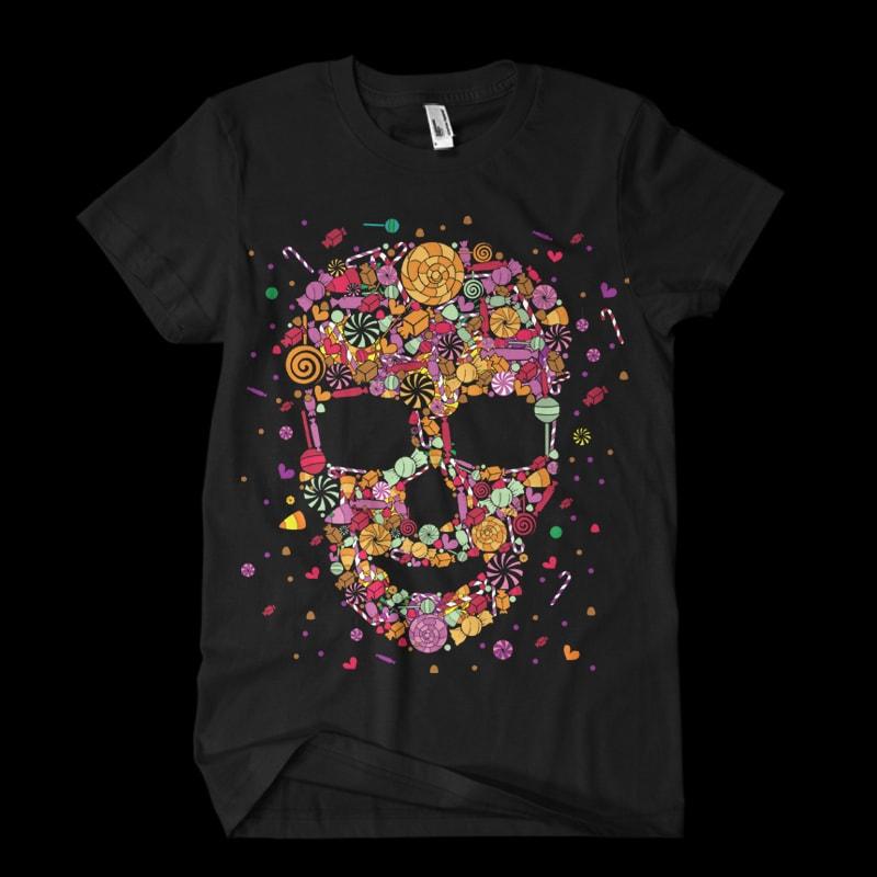 Candy Skull tshirt-factory.com