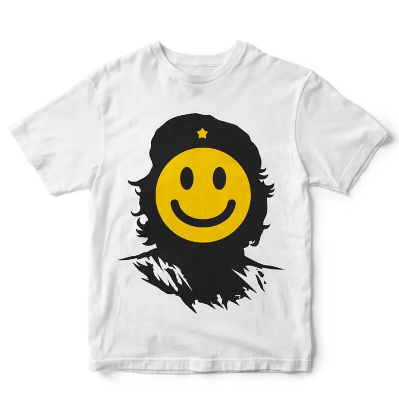 Che Smile tshirt design t shirt designs for printify