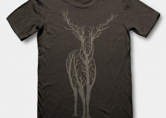 Deer 2 t-shirt design