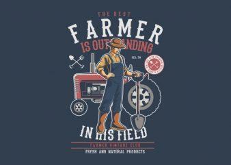 Farmer t shirt graphic design