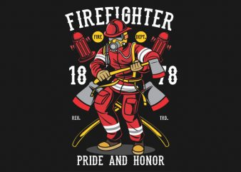 Firefighter commercial use t-shirt design