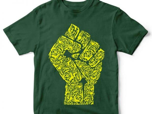 Hand Of Revolution tshirt design