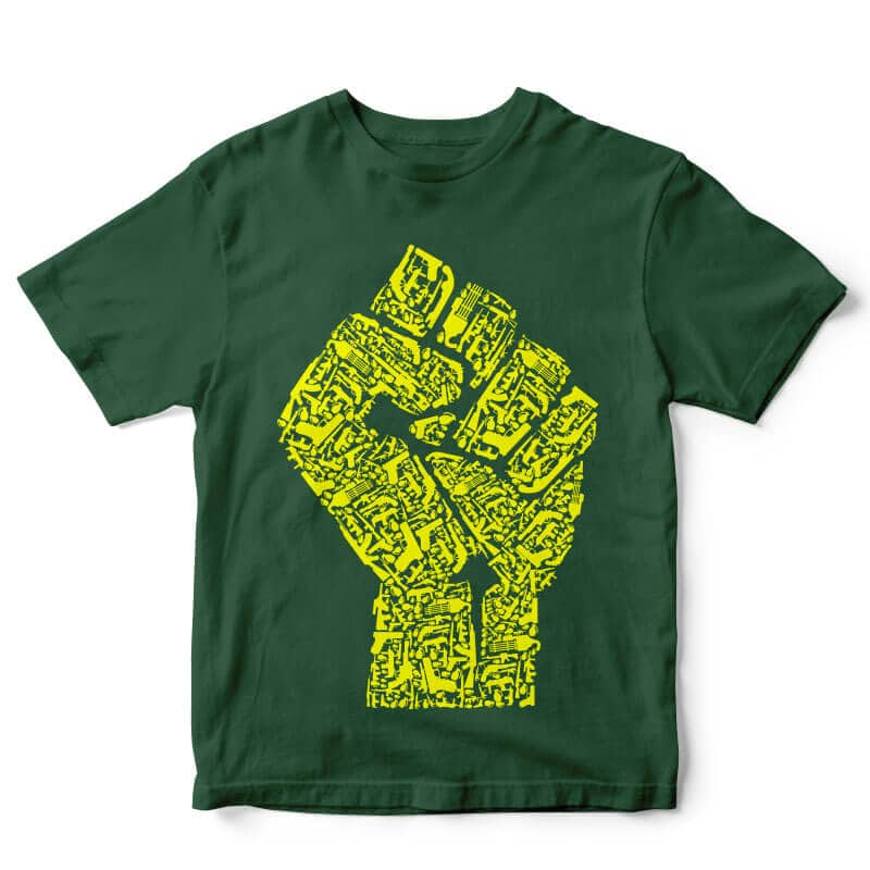 Hand Of Revolution tshirt design tshirt design for merch by amazon