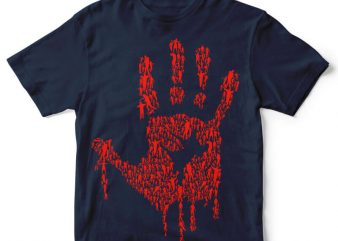 Hand Of Zombies tshirt design