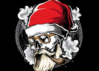 Hipster Santa graphic t shirt