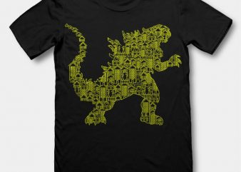 Kaiju 2 tshirt design