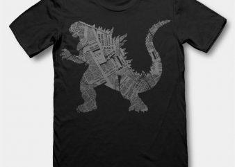 Kaiju tshirt design