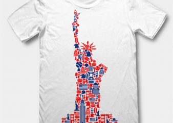 Liberty t-shirt design template
