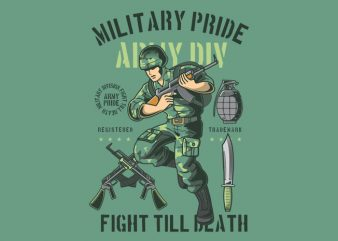 Military Pride t shirt designs for sale