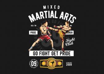 Mixed Martial Arts design for t shirt