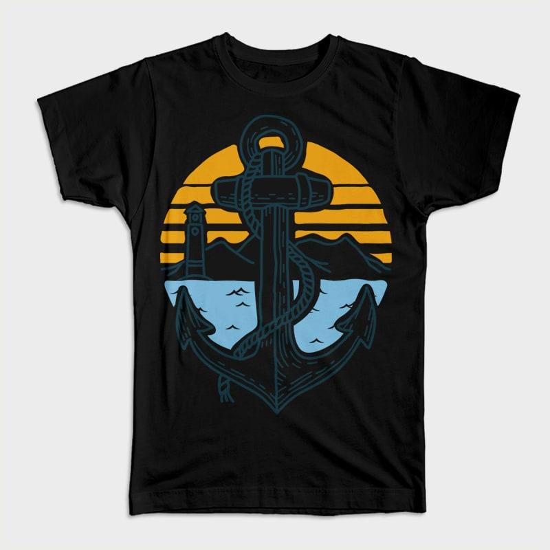 Anchor Point t shirt design graphic