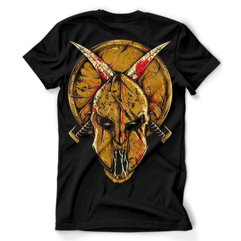 Skull Spartan tshirt design for sale