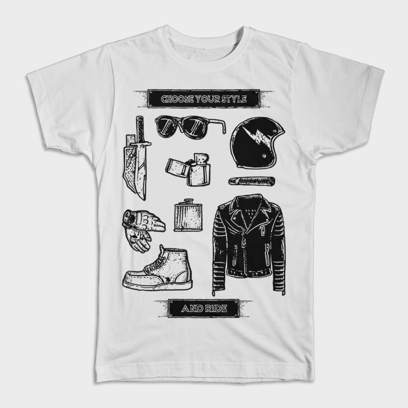 Choose Your Style t shirt designs for printify