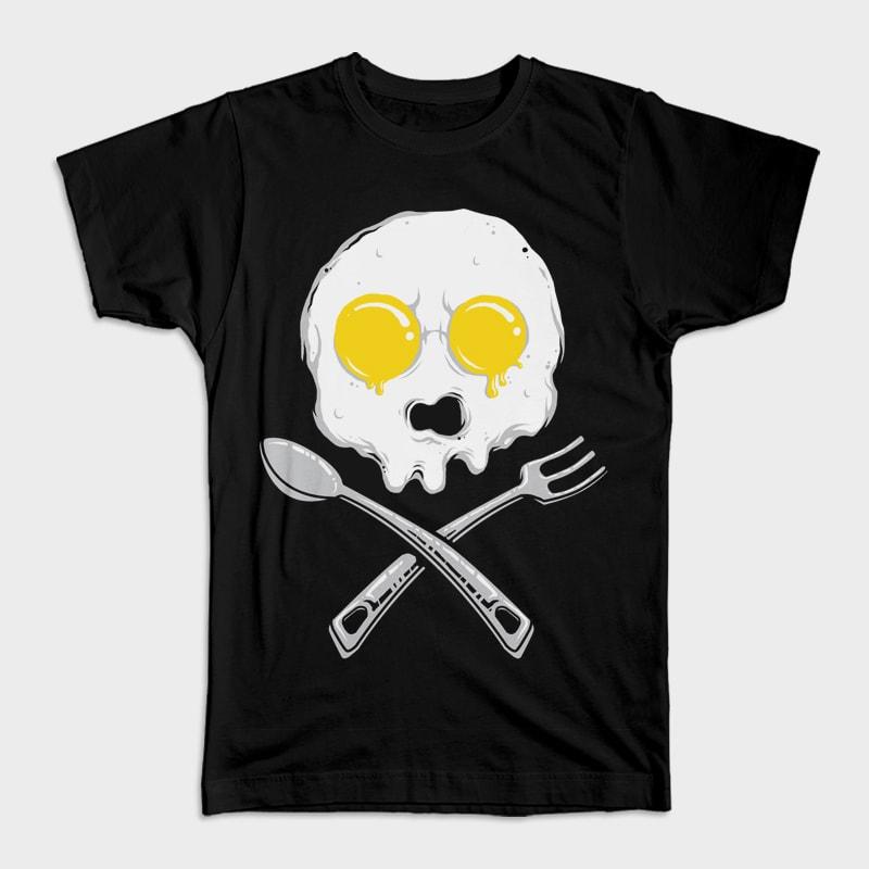 Eggskull vector t shirt design