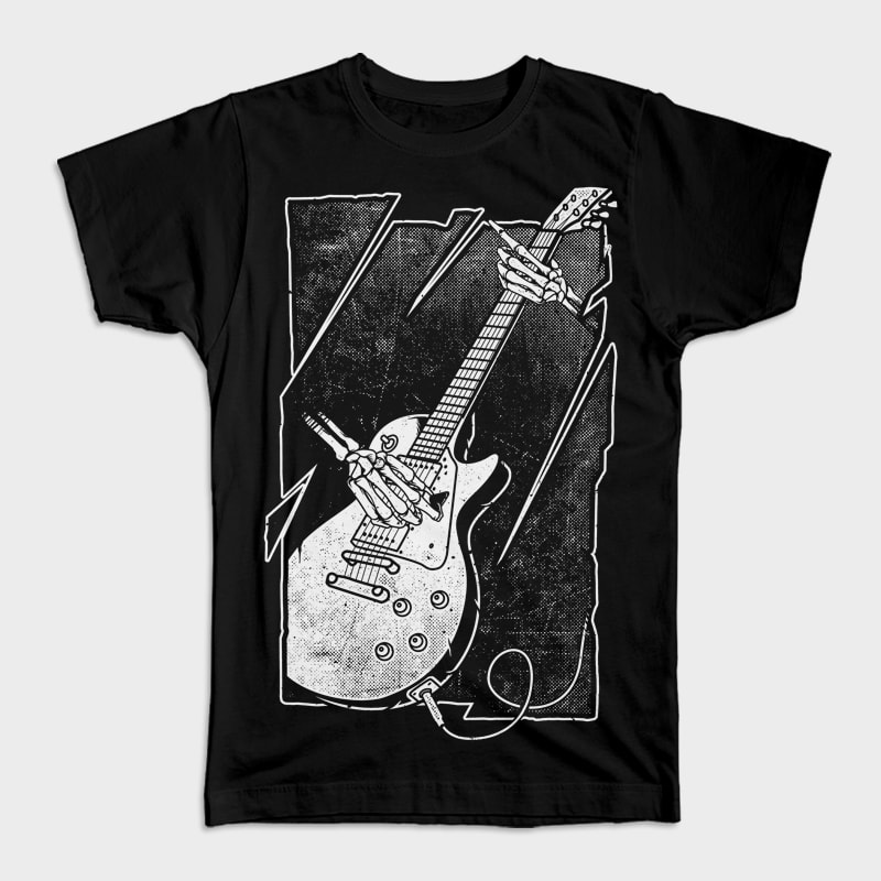 Guitarist tshirt designs for merch by amazon
