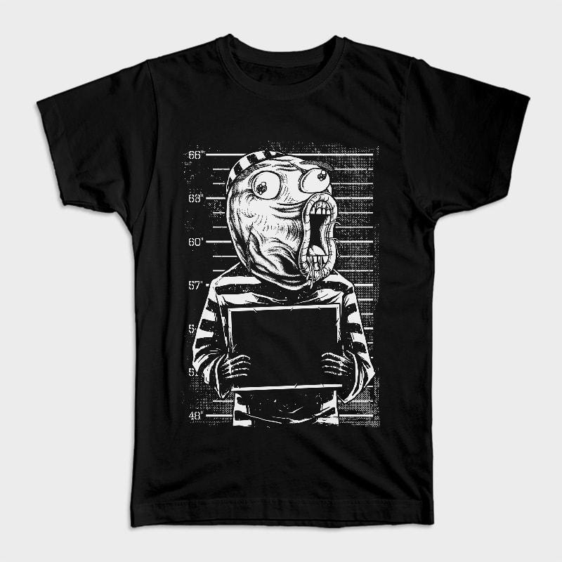 LOL Mugshot vector t shirt design