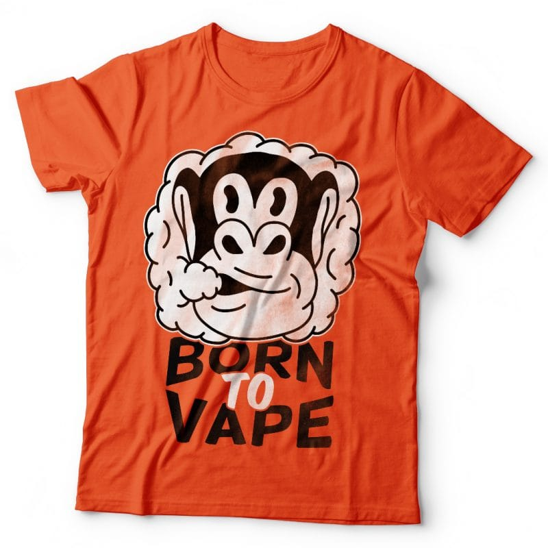 Born to vape. Vector t-shirt design commercial use t shirt designs