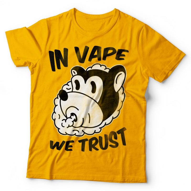 In vape we trust. Vector t-shirt design tshirt factory