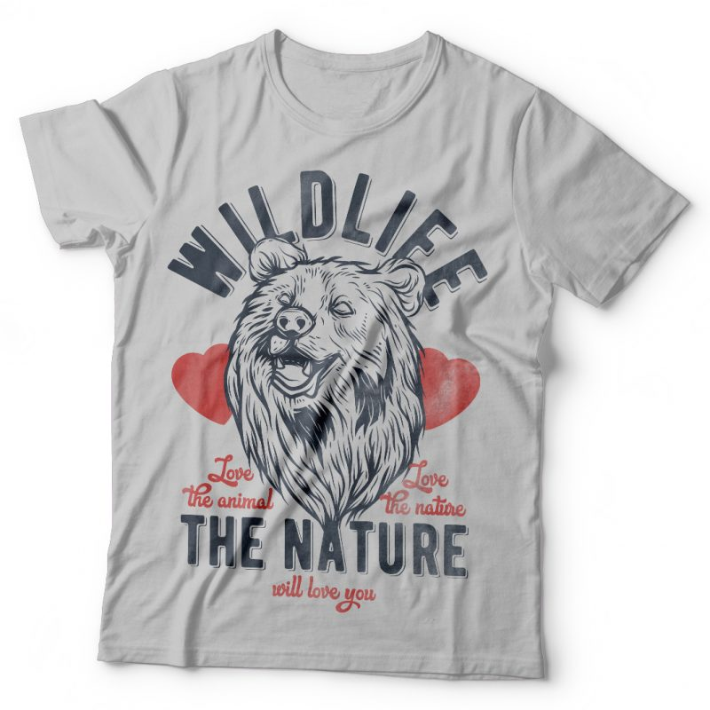 Bears wildlife. Vector t-shirt design tshirt designs for merch by amazon