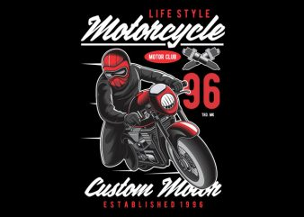 Motorcyle Lifestyle print ready vector t shirt design