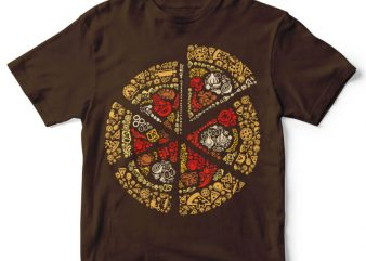 Pizza vector t-shirt design